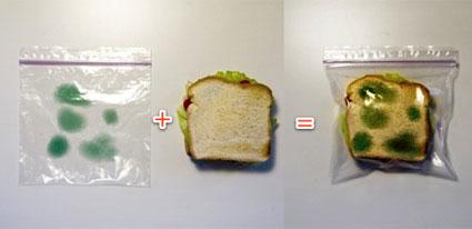 Sacchetto per la colazione o pranzo con deterrente antiscippo integrato